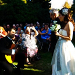 Serenading my wife down the aisle